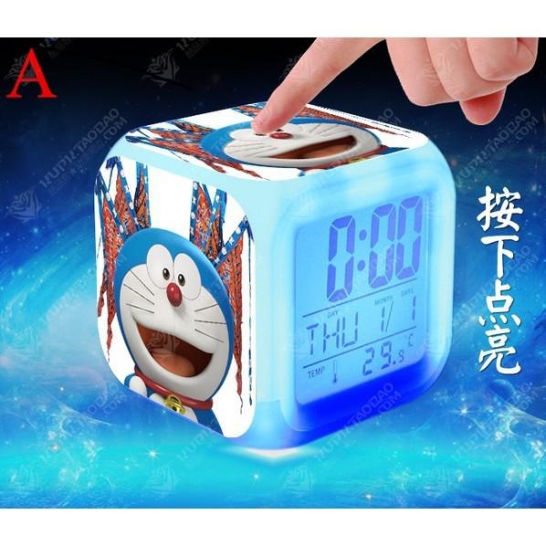 ✈哆啦A 夢七彩方形夜光鬧鐘199 ✈