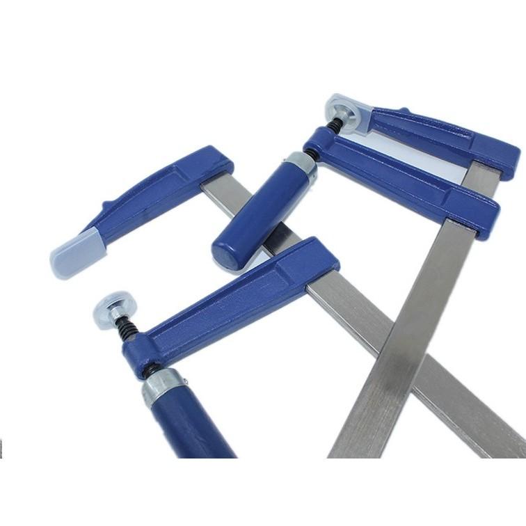 藍色加厚型德標重型木工夾具木工夾F 夾 夾拼板附護套保護 規格木柄 夾具