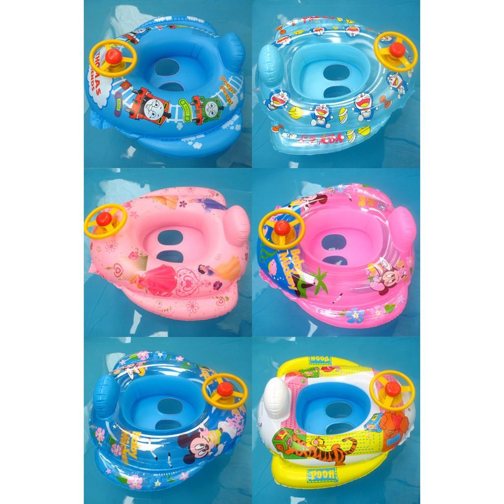 !兒童游泳充氣泳圈 泳圈方向盤車子 戲水玩具玩水方向盤泳圈