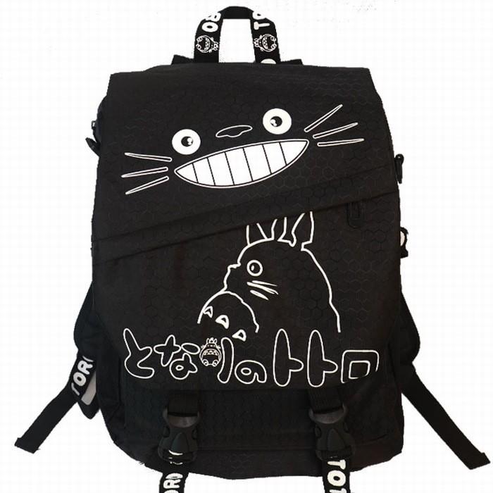 宮崎駿可愛龍貓豆豆龍學生男女生大容量拉鏈尼龍雙肩包後背包書包電腦包旅行包休閒登山包包