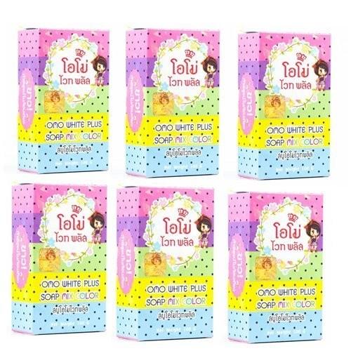 泰國 正品OMO PLUS SOAP 繽紛彩虹嫩白皂100g 彩虹皂水果皂x 6 盒
