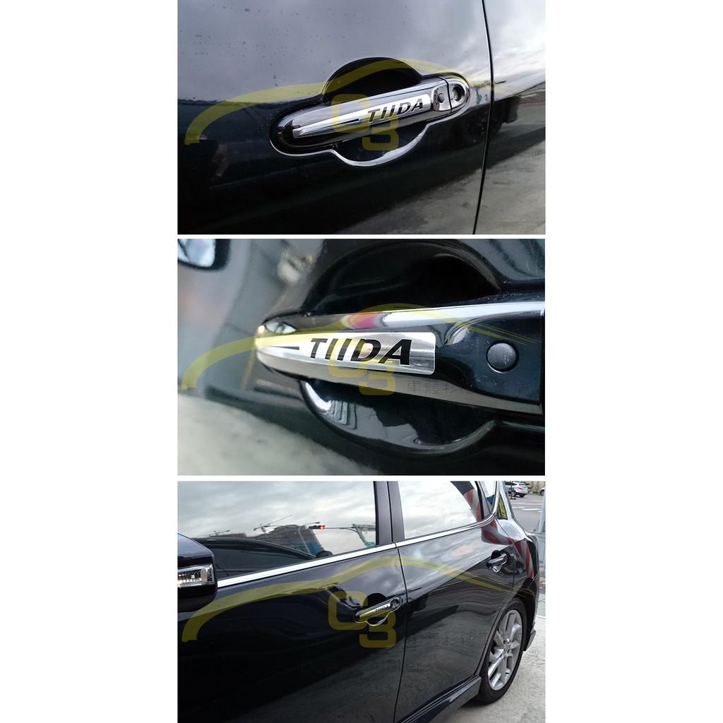 ~C3 車體彩繪工作室~Nissan Big Tiida 車門貼把手貼手把貼carbon