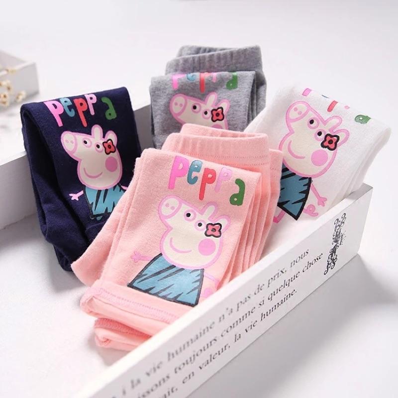 寶寶們喜愛的粉紅豬純棉打底褲