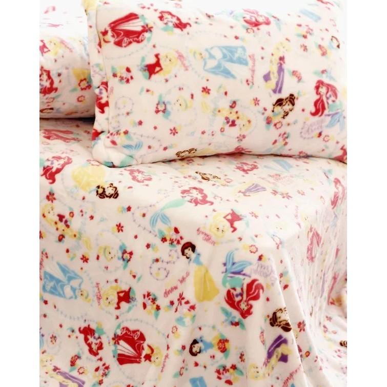 ~莓莓小舖~公主系列毯子迪士尼小美人魚白雪公主長髮公主灰姑娘卡通空調毯毛毯蓋毯枕頭套枕套