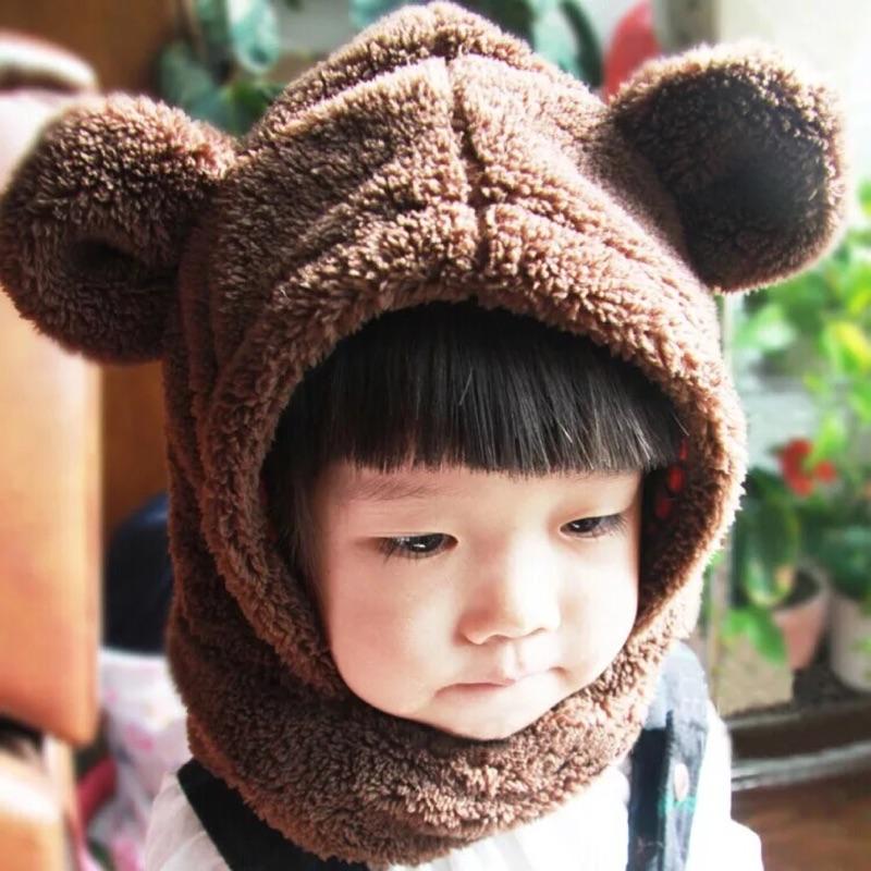 秋 ~保暖男女嬰兒童寶寶加厚護耳小熊耳朵套頭帽子圍脖~ 請詳閱賣場說明 無法退換貨~還請慎