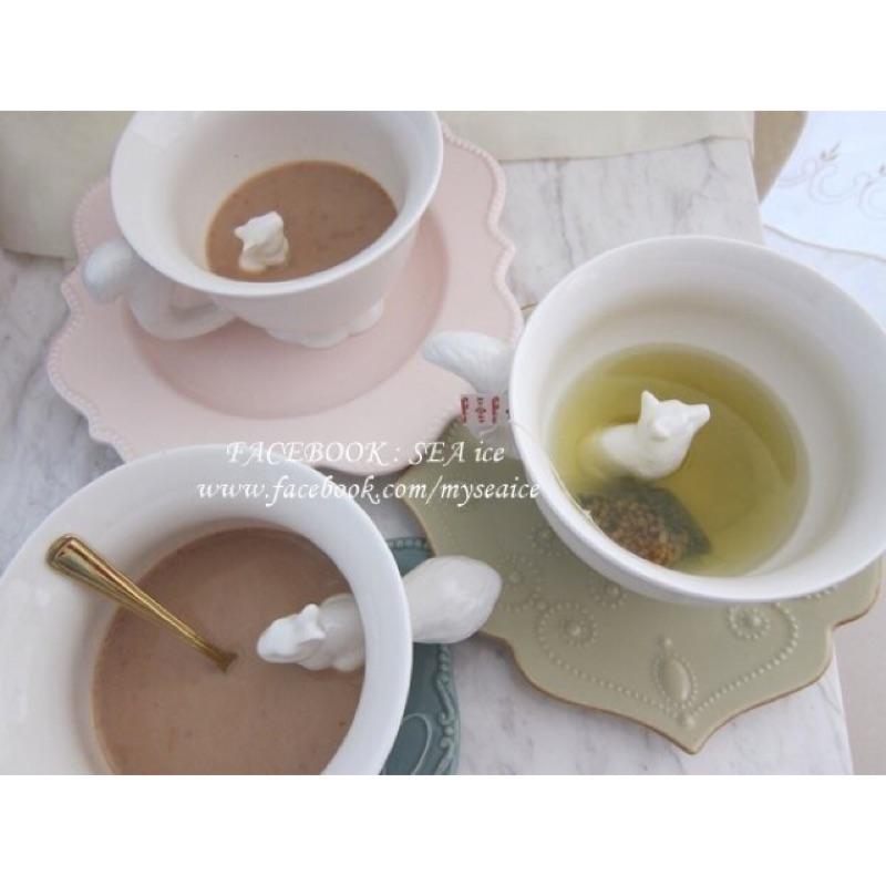 正品 加拿大IMM LIVING 藏著松鼠狐狸兔子動物陶瓷茶杯咖啡杯湯碗馬克杯