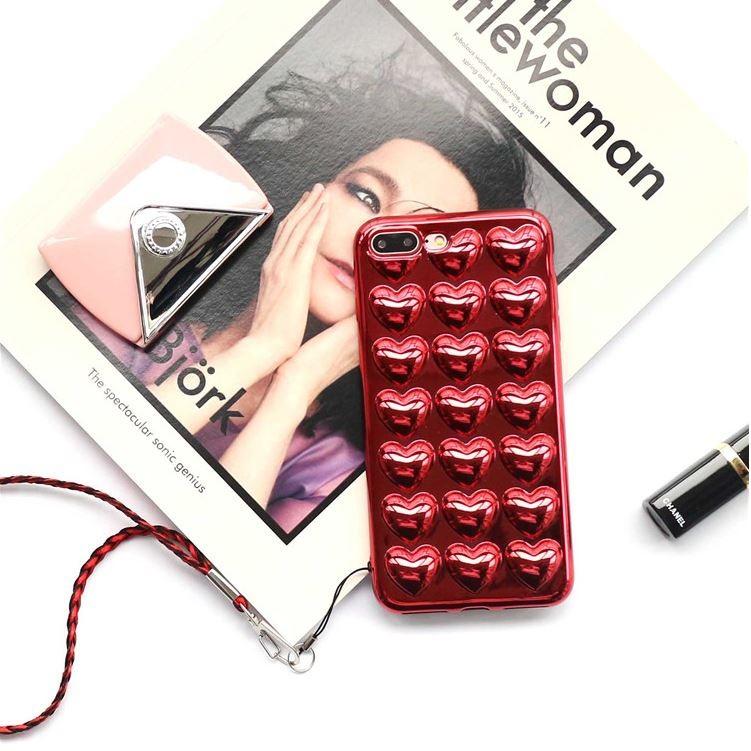 日韓電鍍愛心紓壓泡泡手機殼IPhone 6 6s i6plus 6sPlus i7 7pl