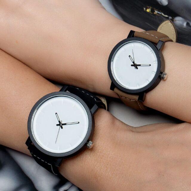 附精美盒子 手錶女韓國潮流學生 男士情侶對表女士皮帶中學生女表