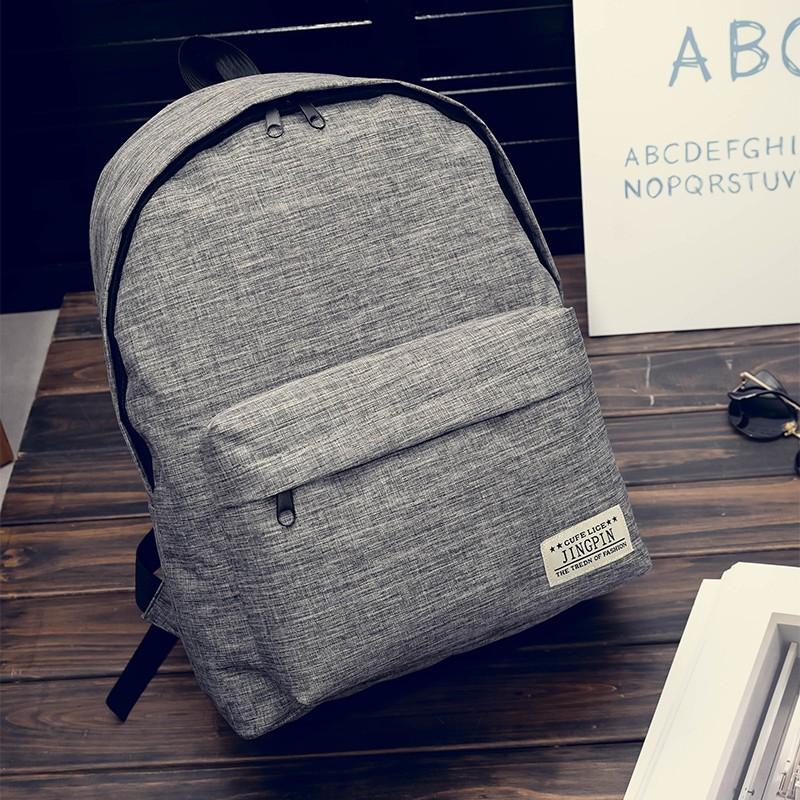 簡約素面後背包純色雙肩包大容量 背包書包旅行包休閒包百搭包包閨蜜款情侶款