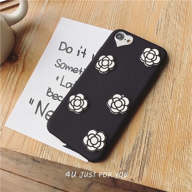 ~4U 手機殼~小香風山茶花矽膠軟殼iPhone  1053 326