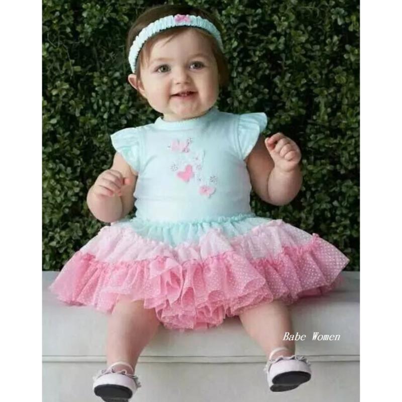 正品美國Little me 彩虹漸層蝴蝶網紗蓬蓬裙短袖連身包屁衣髮帶二件組女寶寶女童禮服洋