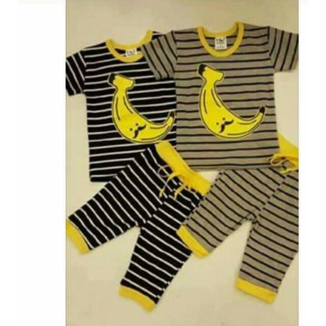 ~ ~香蕉條紋套裝上衣褲子