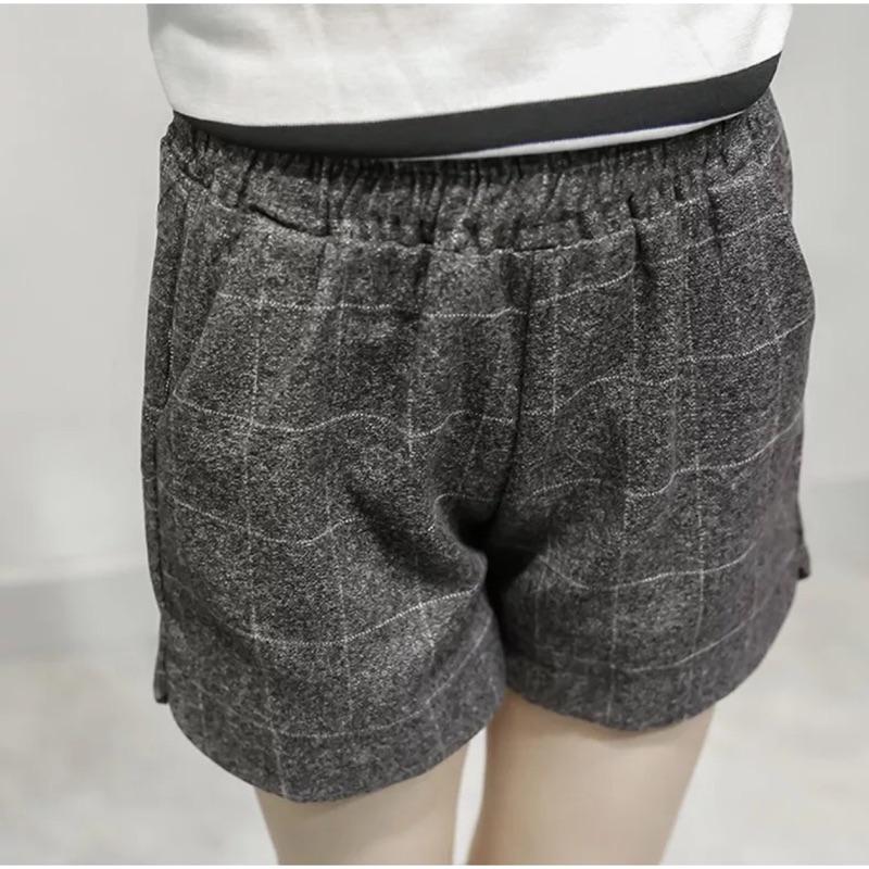 [隨心所欲] XL 4XL 毛呢格子寬鬆大碼靴褲闊腿0102 17