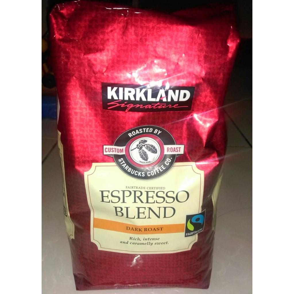 中好市多KIRKLAND SIGNATURE 義式深度烘培咖啡豆ESPRESSO BLEN