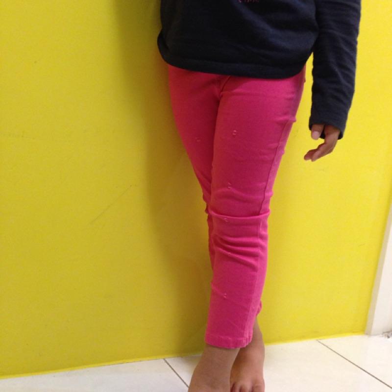 新潮女童糖果色彈性內搭褲破洞緊身牛仔褲百搭純棉 內搭褲