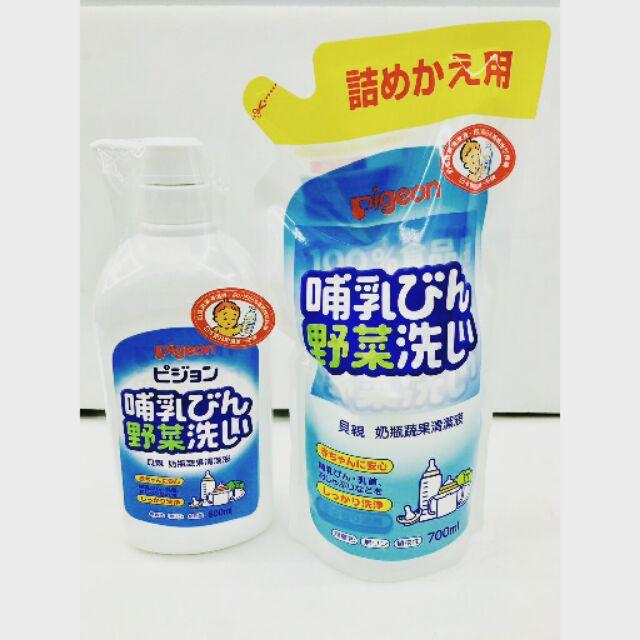Pigeon 貝親奶瓶蔬果清潔液補充包700ml 罐裝800ml