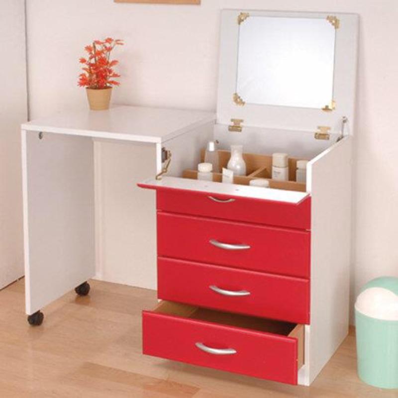 免 ] 多用伸縮化妝桌櫃