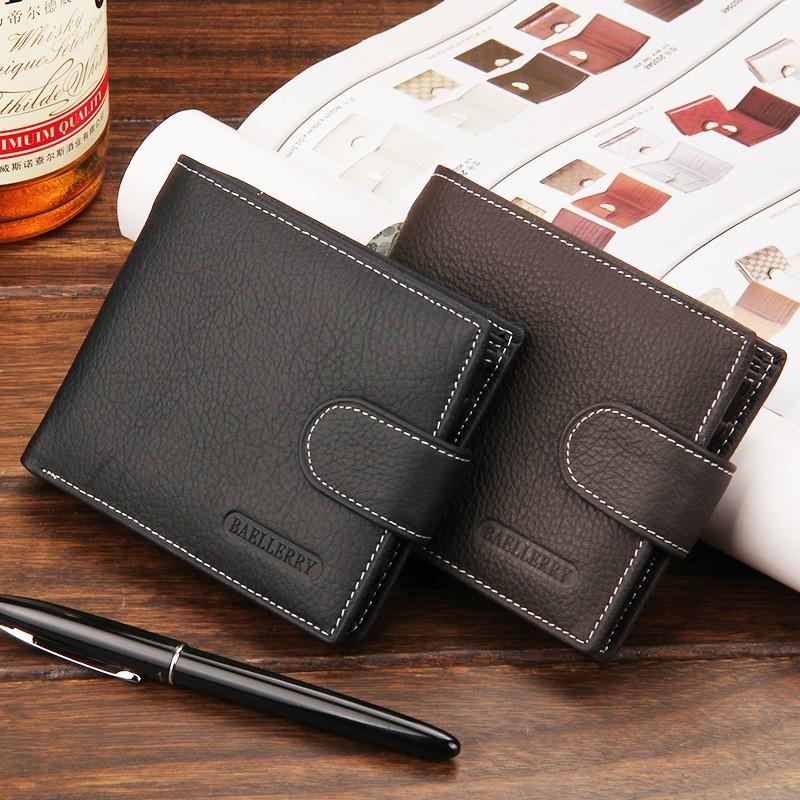 多 商務牛皮短款皮夾,有拉鍊層、零錢袋~多工能夾層、卡片位~情人節 父親節短夾零錢包皮夾