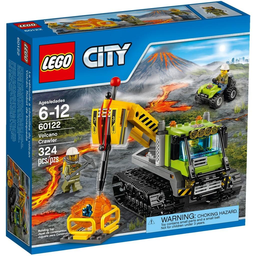 LEGO 樂高CITY 城市系列60122 火山履帶探勘車