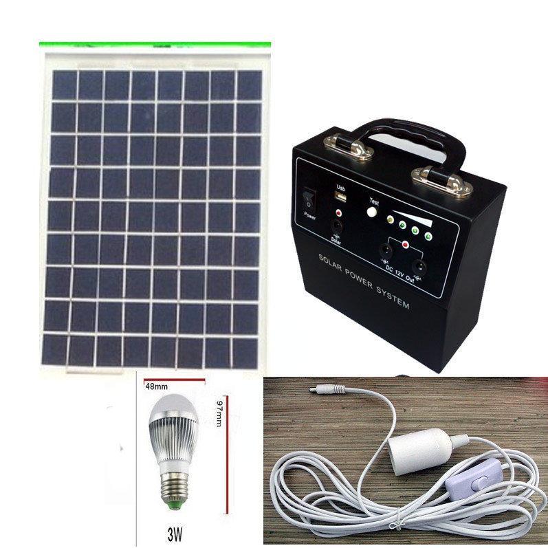 便攜式小型家用太陽能10W12V 發電系統可另供12V 風扇水泵氧氣泵發電A0399