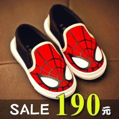 饅頭家男童鞋3 7 歲蜘蛛人舒適休閒帆布鞋~5A057 ~ n n