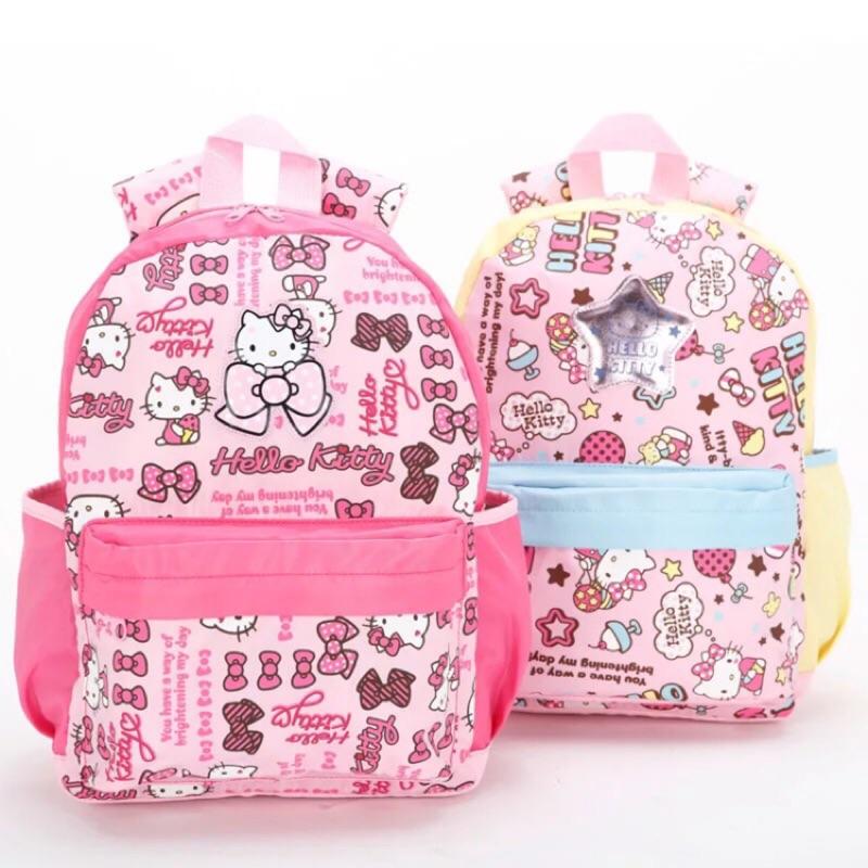 新正品Hello Kitty 凱蒂貓兒童幼兒園書包女超輕防雨雙肩揹包可愛