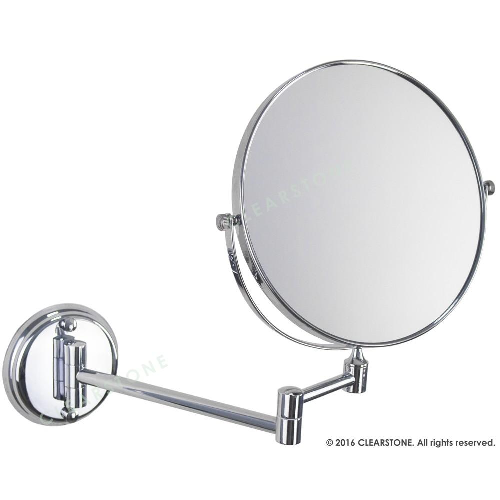 YM 763 8 吋304 不鏽鋼雙面伸縮鏡化妝鏡美容鏡衛浴鏡圓鏡平面放大304 不鏽鋼銅