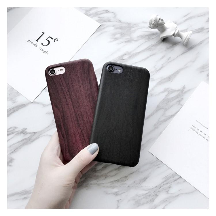 原創iphone6 手機殼蘋果系列手機殼簡約文藝大氣木紋iphone7 手機殼酒紅墨綠蘋果