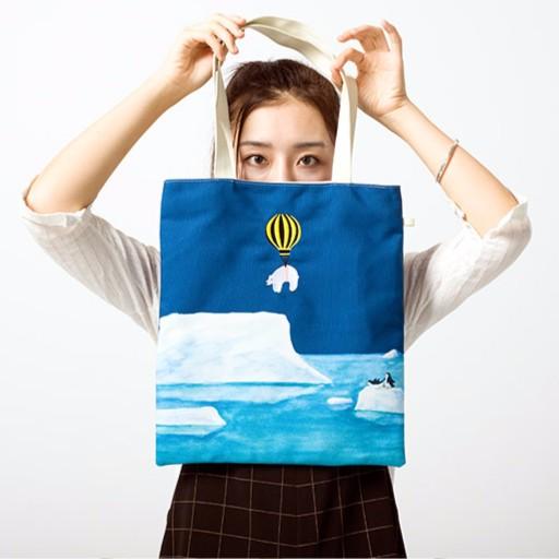 少女日常小包▏熱氣球旅行插畫系列帆布包
