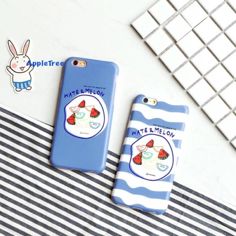 韓國海洋風西瓜IMD iPhone 6 I6 PLUS 全包覆保護套手機殼軟殼不掉色