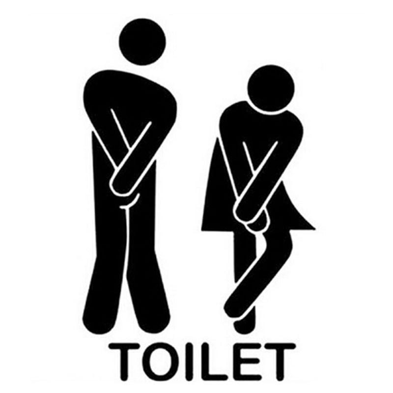 尿急!超可愛DIY 廁所貼紙洗手間壁貼可拆卸