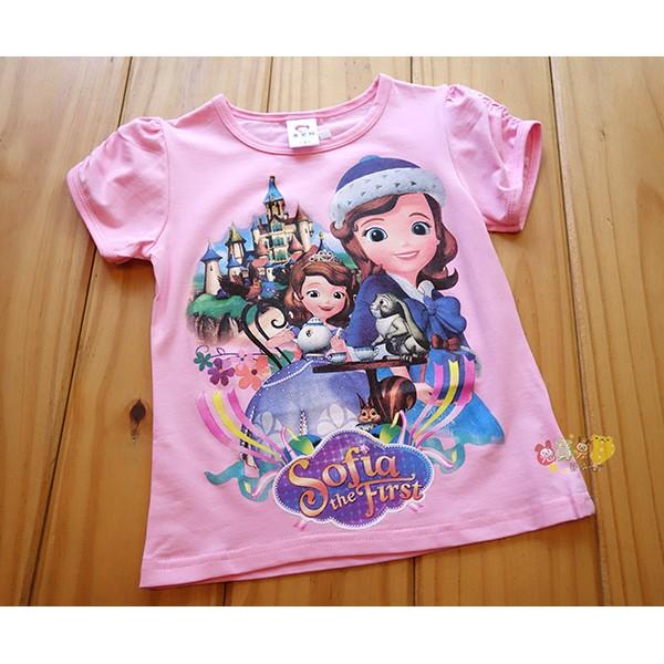 8108 中小童5 15 號純棉蘇菲亞公主棉t 恤