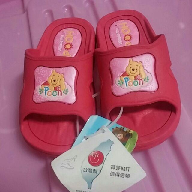 小熊維尼兒童室內室外拖鞋防水防滑