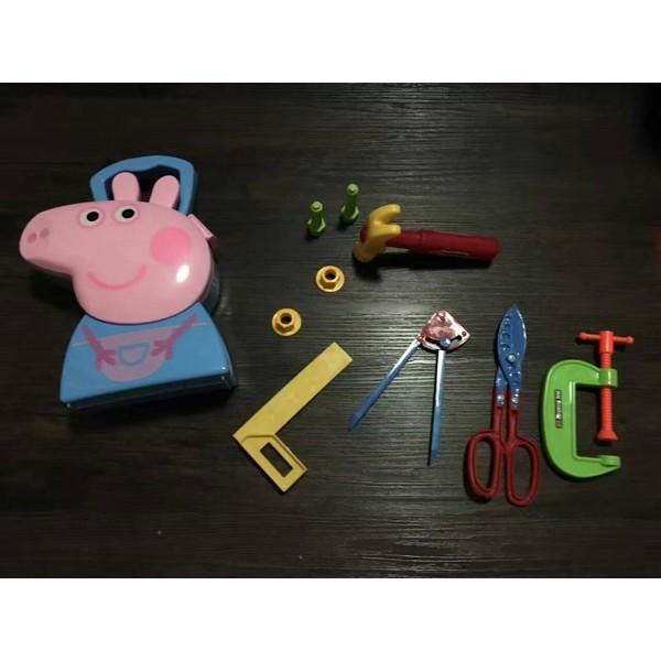 藍色喬治粉紅豬小妹粉紅小豬佩佩豬醫具 收納盒套裝過家家套裝小孩玩具