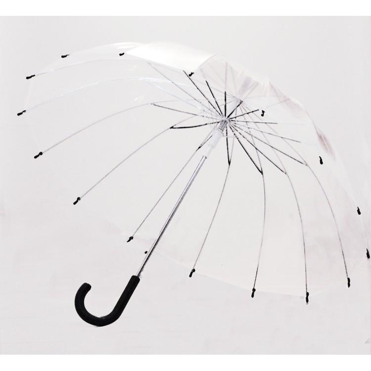 復古唯美自動透明雨傘長柄傘商務傘明星舞蹈傘道具傘透明傘廣告傘