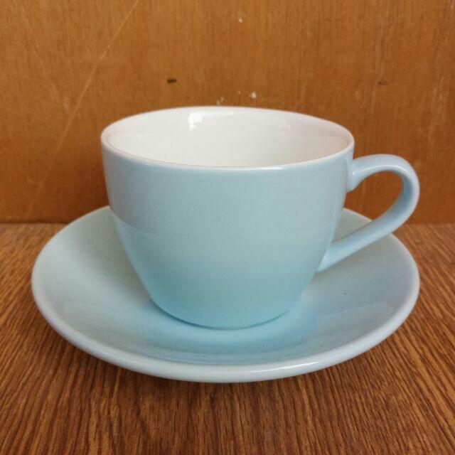 藍色馬卡龍拉花咖啡杯色釉咖啡杯馬卡龍系列 拿鐵杯卡布奇諾杯WBC 比賽指定杯230ml