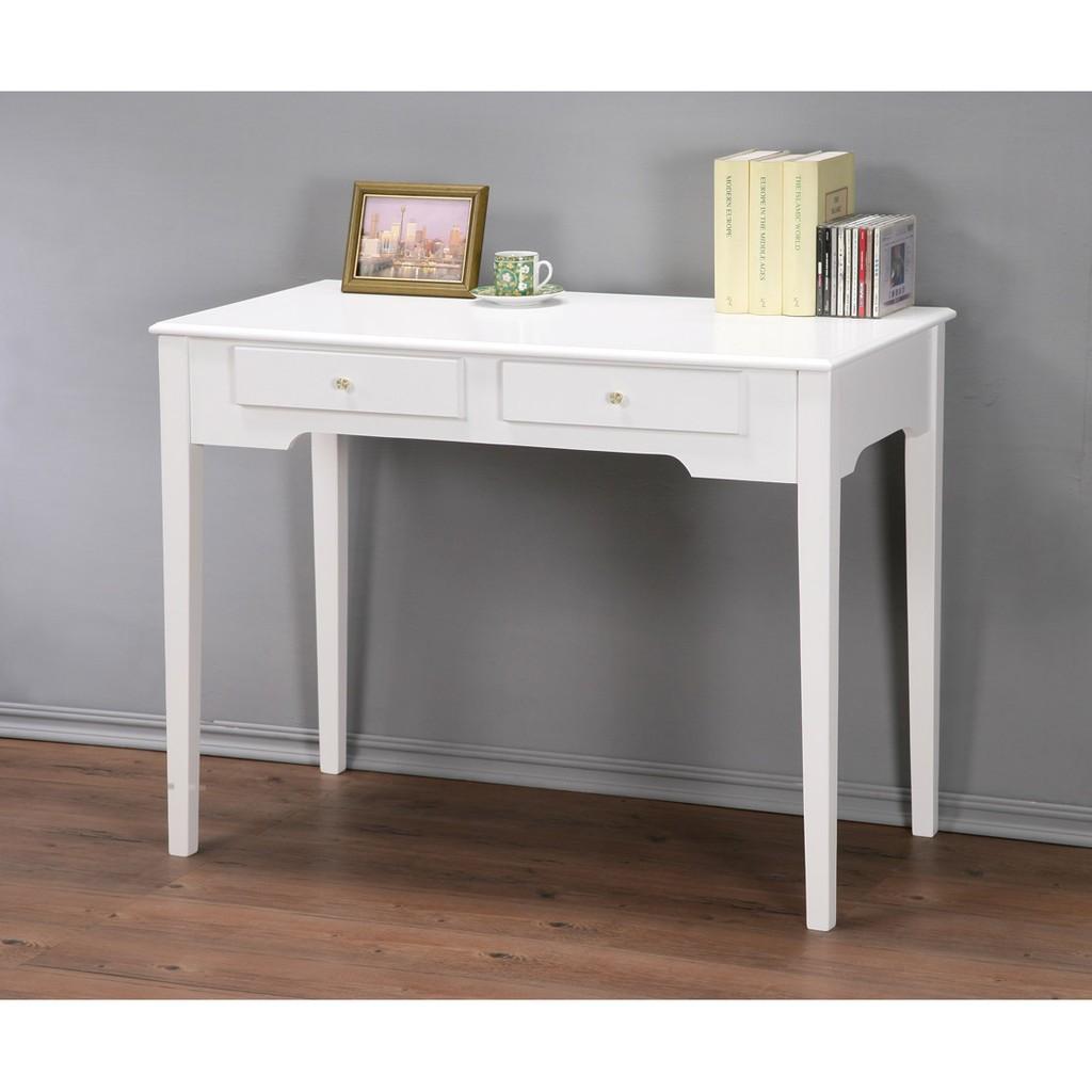 ~DE1050 ~100cm 優雅二抽書桌電腦桌工作桌餐桌可加購玻璃