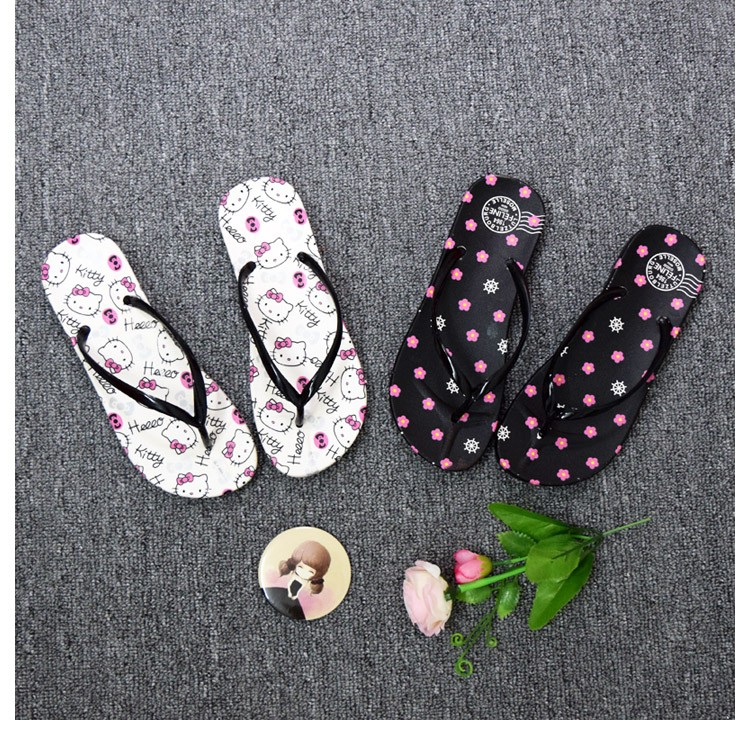少女中學生韓風日系日韓系 可愛甜美卡通平底休閒人字拖鞋女夏高跟鞋單鞋豆豆鞋涼鞋懶人鞋厚底鞋