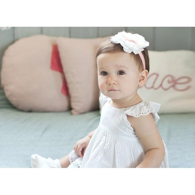 髮帶寶寶嬰兒女嬰初生兒拍照可愛舒服彌月滿月洋裝禮服