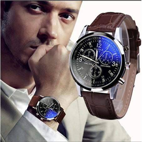 潮男士夜光手錶青少年學生皮帶防水休閒非機械石英表 手錶男錶對錶情侶情人節 送男友生日