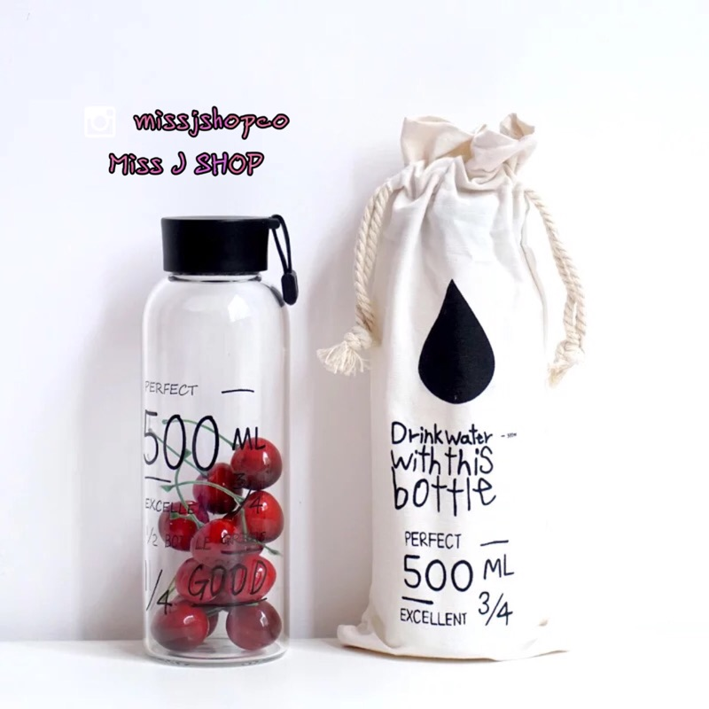 白蓋 塗鴉款my bottle 透明玻璃隨行杯水壺果汁情侶款