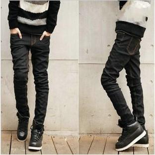 ~ 不用等~多款春 直筒青年 修身小腳褲男士黑色牛仔褲男生顯瘦休閒長褲子