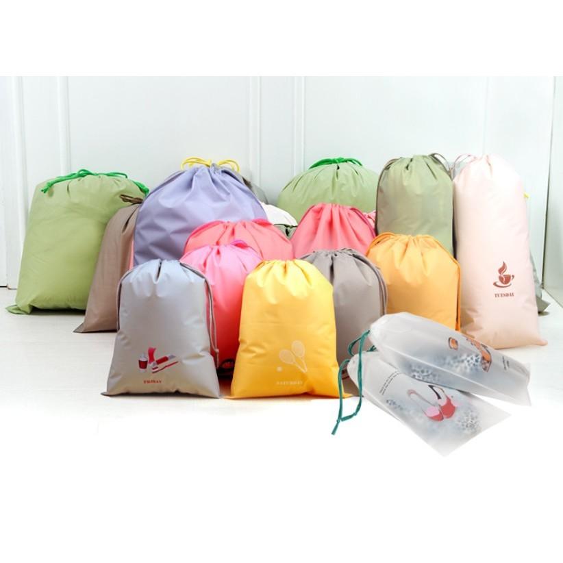 出國旅遊9 件套卡通束口袋旅遊衣物服装塑料收纳袋1 組9 件