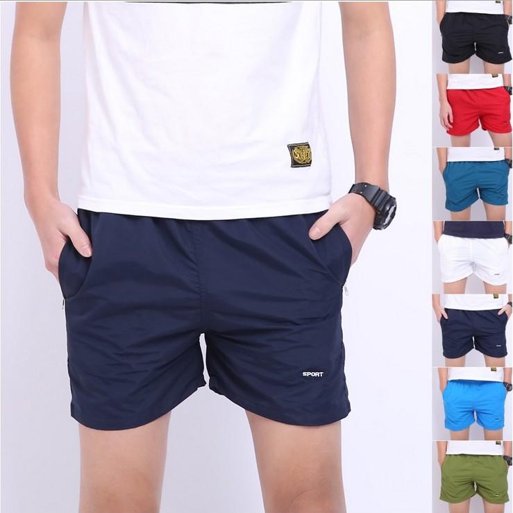 薄款日系純色棉質褲衩男士三分褲休閒 短褲寬鬆大碼沙灘褲
