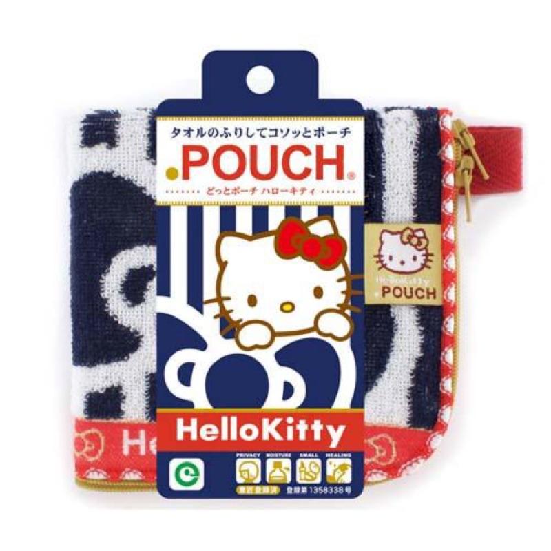 多用途拉鍊小毛巾手帕kitty KT 收納包退熱毛巾水壺袋小物袋置物袋