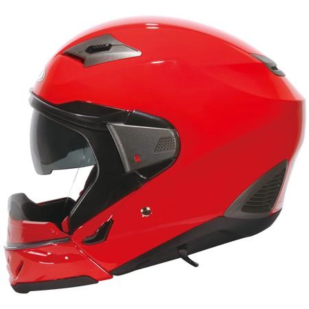 ZEUS ZS 611E 大紅不含下巴~雙層鏡片內層鏡片有效阻擋陽光照射