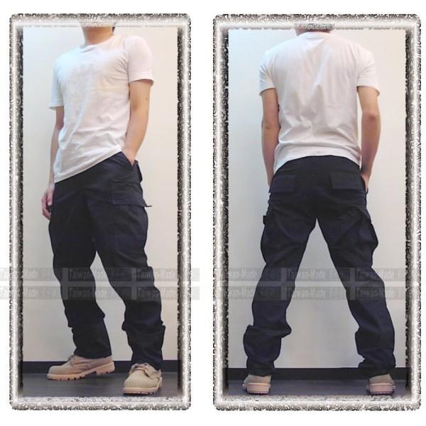 ~乙補庫~美軍深藍色丈青色長褲美規版多口袋垮褲、滑板褲、工作褲