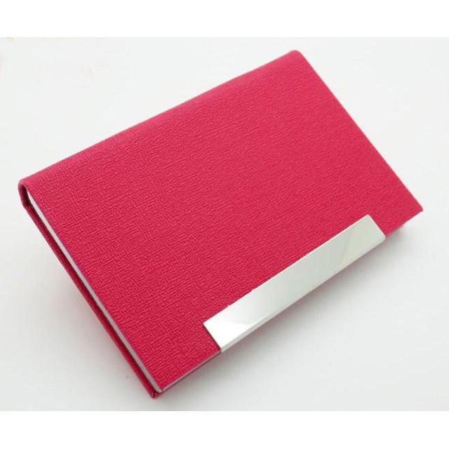NO 7219 甲骨紋大容量商務名片夾PU 皮革名片盒名片盒紫羅蘭色