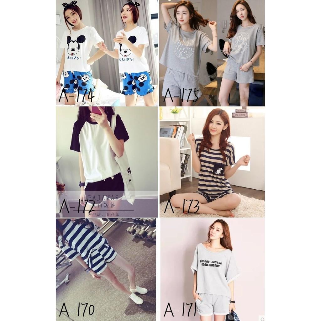 夏裝 韓國 套裝女大學生短袖T 恤褲子 兩件套潮 服~Trend Fitch