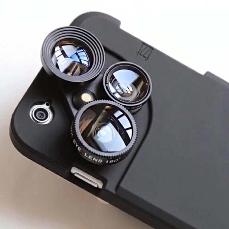 iphone6 6s plus 鏡頭手機殼微距魚眼增距廣角四合一拍照手機殼